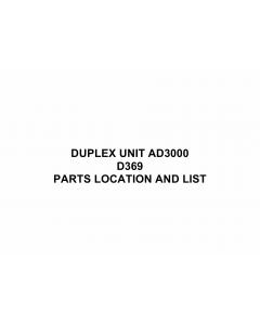 RICOH Options D369 DUPLEX-UNIT-AD3000 Parts Catalog PDF download
