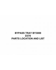 RICOH Options D370 BYPASS-TRAY-BY3000 Parts Catalog PDF download