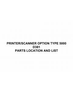 RICOH Options D381 PRINTER-SCANNER-OPTION-TYPE-5000 Parts Catalog PDF download