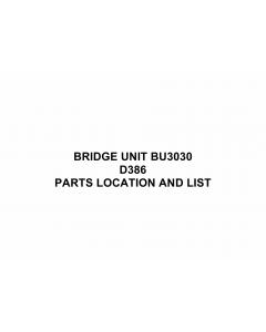 RICOH Options D386 BRIDGE-UNIT-BU3030 Parts Catalog PDF download