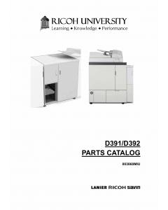 RICOH Options D391 D392 PERFECT-BINDER-GB5000 Parts Catalog PDF download