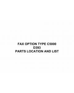 RICOH Options D399 FAX-OPTION-TYPE-C5000 Parts Catalog PDF download