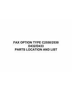 RICOH Options D432 D433 FAX-OPTION-TYPE-C2550-C2530 Parts Catalog PDF download