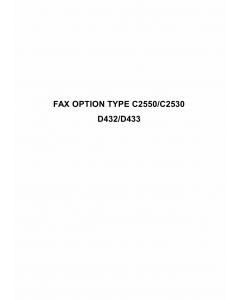 RICOH Options D432 D433 FAX-OPTION-TYPE-C2550-C2530 Service Manual PDF download