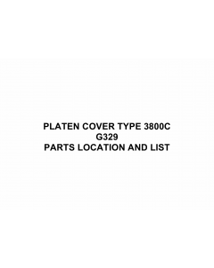 RICOH Options G329 PLATEN-COVER-TYPE-3800C Parts Catalog PDF download