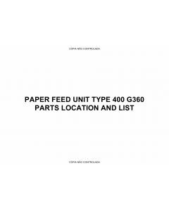 RICOH Options G360 PAPER-FEED-UNIT Parts Catalog PDF download