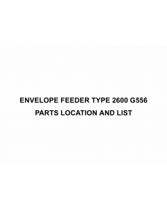 RICOH Options G556 ENVELOPE-FEEDER-TYPE-2600 Parts Catalog PDF download