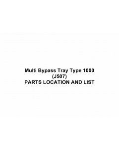 RICOH Options J507 Multi-Bypass-Tray-Type-1000 Parts Catalog PDF download