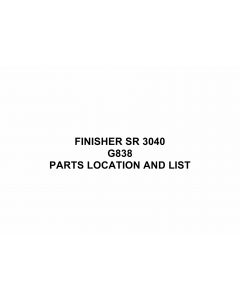RICOH Options SR3040 G838 FINISHER Parts Catalog PDF download