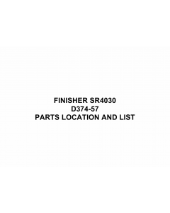 RICOH Options SR4030 D374 FINISHER Parts Catalog PDF download