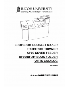 RICOH Options SR90 TR90 CF90 BF90 BOOKLET-MAKER TRIMMER COVER-FEEDER Parts Catalog PDF download