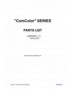 RISO ComColor Series Parts List Manual