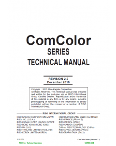 RISO ComColor Series TECHNICAL Service Manual