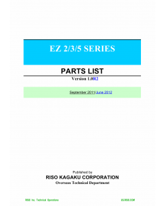 RISO EZ 200 220 300 370 390 570 590 Parts List Manual