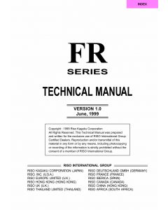 RISO FR 2950 3950 TECHNICAL Service Manual