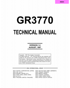 RISO GR 3770 TECHNICAL Service Manual