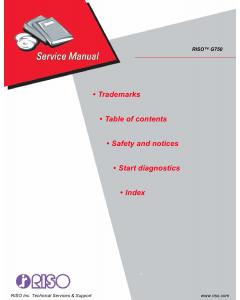 RISO G G750 Service Manual
