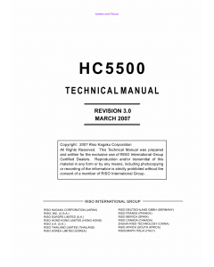 RISO HC 5500 TECHNICAL Service Manual