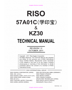 RISO KZ 30 57A01C TECHNICAL Service Manual