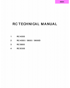 RISO RC 4000 4500 5600 5800 6300 TECHNICAL Service Manual
