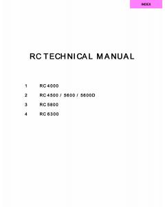 RISO RC 4000 4500 5600 5800 6300 TECHNICAL Service Manual