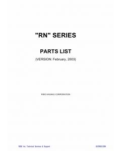 RISO RN 2000 2030 2050 2080 2100 2130 2150 2180 Parts List Manual