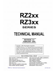 RISO RZ 200 220 230 230C 300 310 370 370C 390 TECHNICAL Service Manual