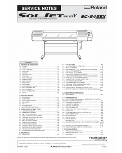 Roland SOLJET-Pro2V SC 545EX Service Notes Manual