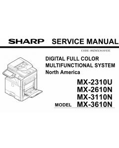 SHARP MX 2310U 2610N 3110N 3610N Service Manual
