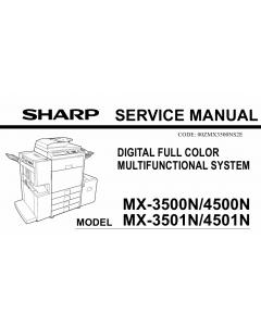 SHARP MX 3500 3501 4500 4501 N Service Manual