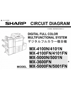 SHARP MX 3600 4100 4101 5000 5001 N-FN Circuit Diagrams