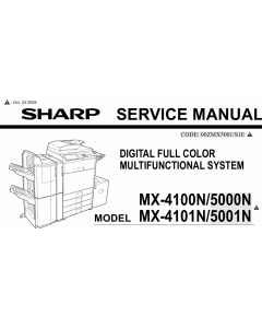 SHARP MX 4100 4101 5000 5001 N Service Manual