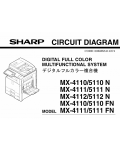 SHARP MX 4110 4111 4112 5110 5111 5112 N Circuit Diagrams