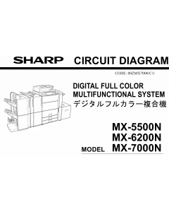 SHARP MX 5500 6200 7000 N Circuit Diagrams