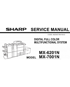 SHARP MX 6201 7001 N Service Manual