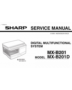 SHARP MX B201 B201D Service Manual