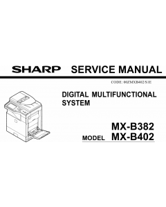 SHARP MX B382 B402 Service Manual