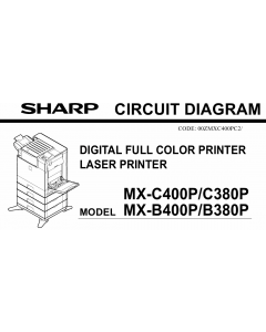 SHARP MX B400 B380 C400 C380 P Circuit Diagrams
