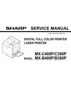 SHARP MX B400 B380 C400 C380 P Service Manual