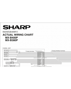 SHARP MX B400 B380 P Wiring Chart Diagrams