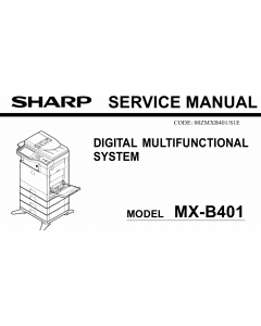 SHARP MX B401P Service Manual