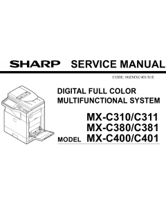 SHARP MX C310 C311 C380 C381 C400 C401 Service Manual
