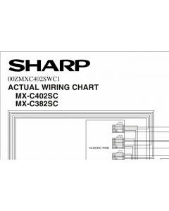 SHARP MX C382 C402 SC Wiring Chart Diagrams