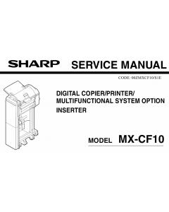 SHARP MX CF10 Service Manual