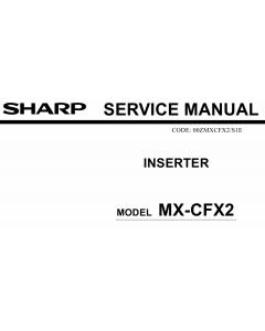 SHARP MX CFX2 Service Manual