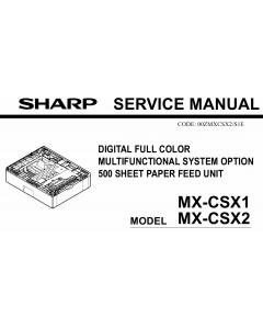 SHARP MX CSX1 CSX2 Service Manual