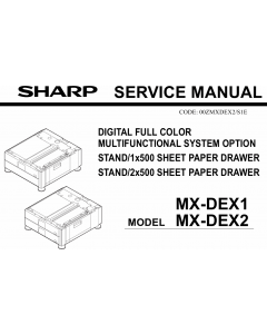 SHARP MX DEX1 DEX2 Service Manual