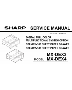 SHARP MX DEX3 DEX4 Service Manual