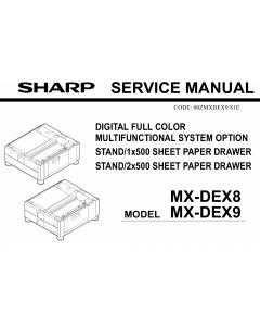 SHARP MX DEX8 DEX9 Service Manual