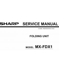 SHARP MX FDX1 Service Manual